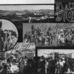 Cartolina da Patro di Moncalvo raffigurante i subiet d'Patro prodotti da Mattia e Angelo Guazzo